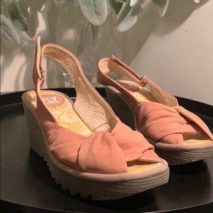 Fly London Wedges Rose Summer Sandals